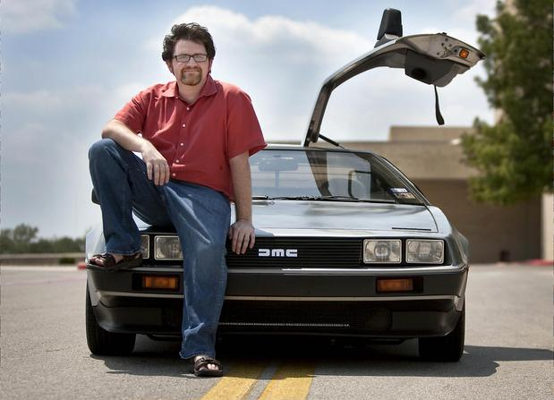 Ernest Cline and DeLorean
