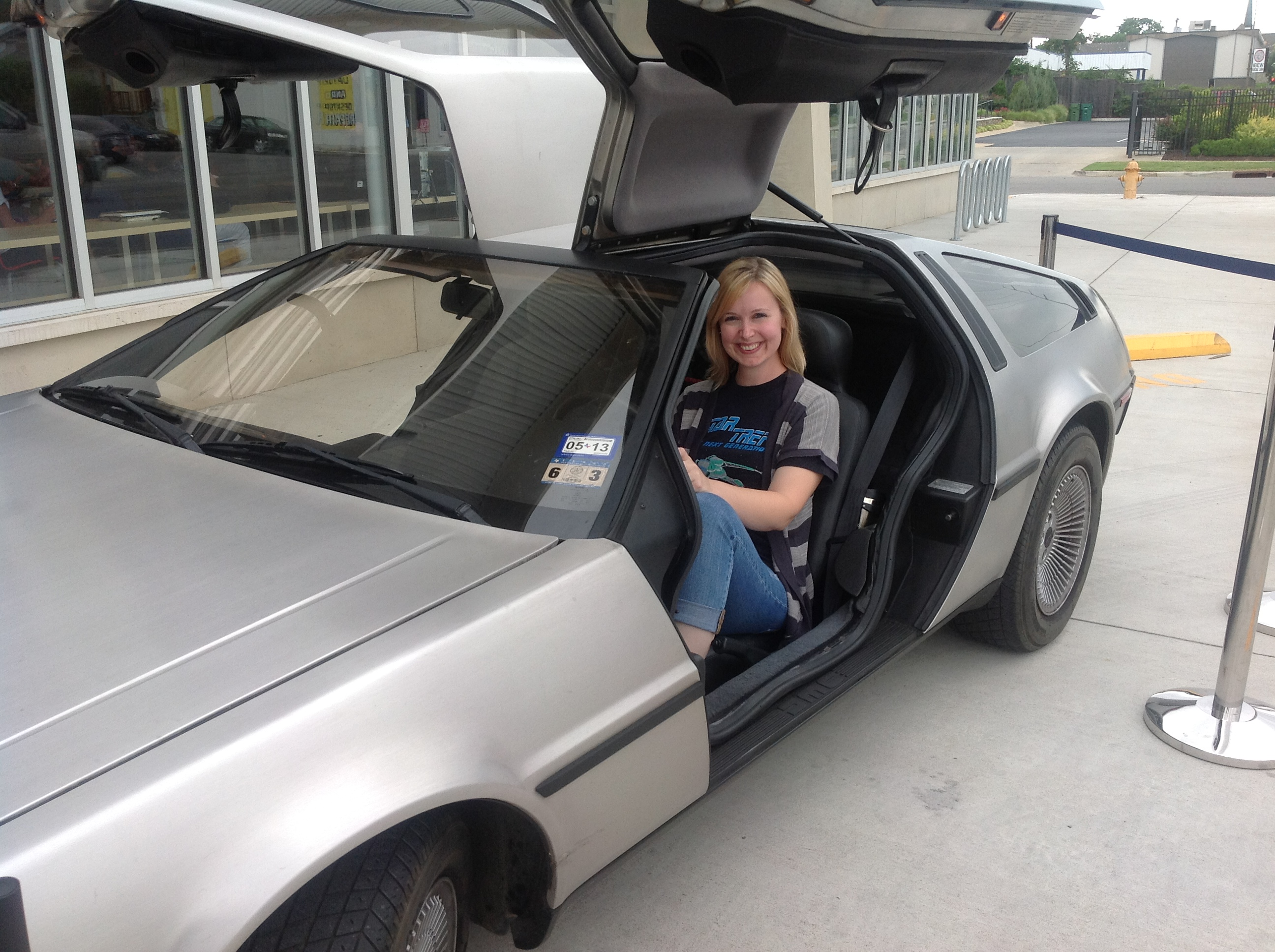 emily in the delorean