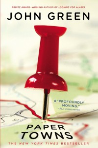 Paper Towns by John Green, first book cover image